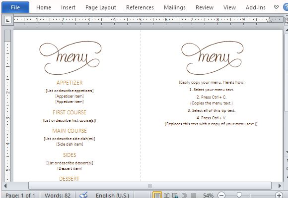 Lunch Menu Template. What'S On The Menu This Is A Wonderfully