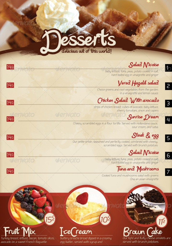 restaurants menus templates - Etame.mibawa.co
