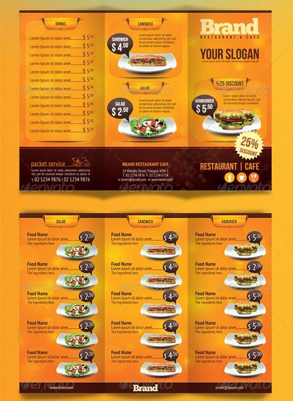 Restaurant menu template for Free restaurant menu templates for mac