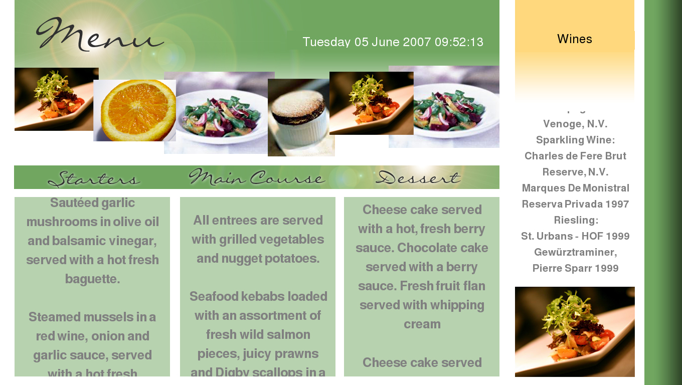 Restaurant Menu Template – Sample Cafe Menu Template