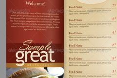 Restaurant Menu Template - Take out menu template free
