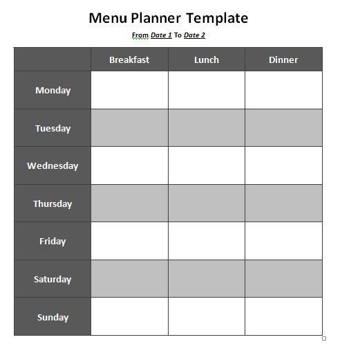 Menu-Planner-Template