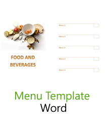 Menu Template  Cafe Menu Template Word