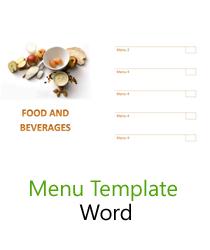 free menu templates blank restaurant samples for word. Black Bedroom Furniture Sets. Home Design Ideas