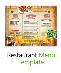 restaurants menu template