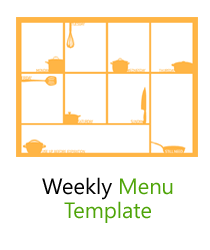 free weekly menu templates for word