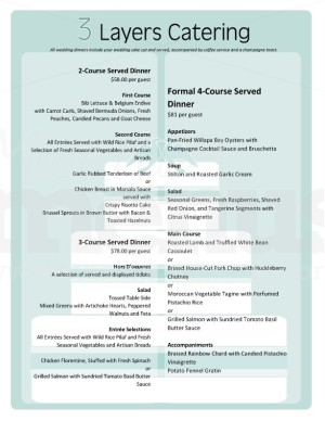 catering menu templates