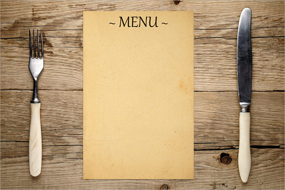 blank menu template word