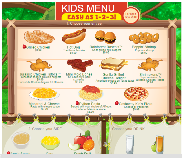 Pics Photos - Lunch Menu Template For Kids