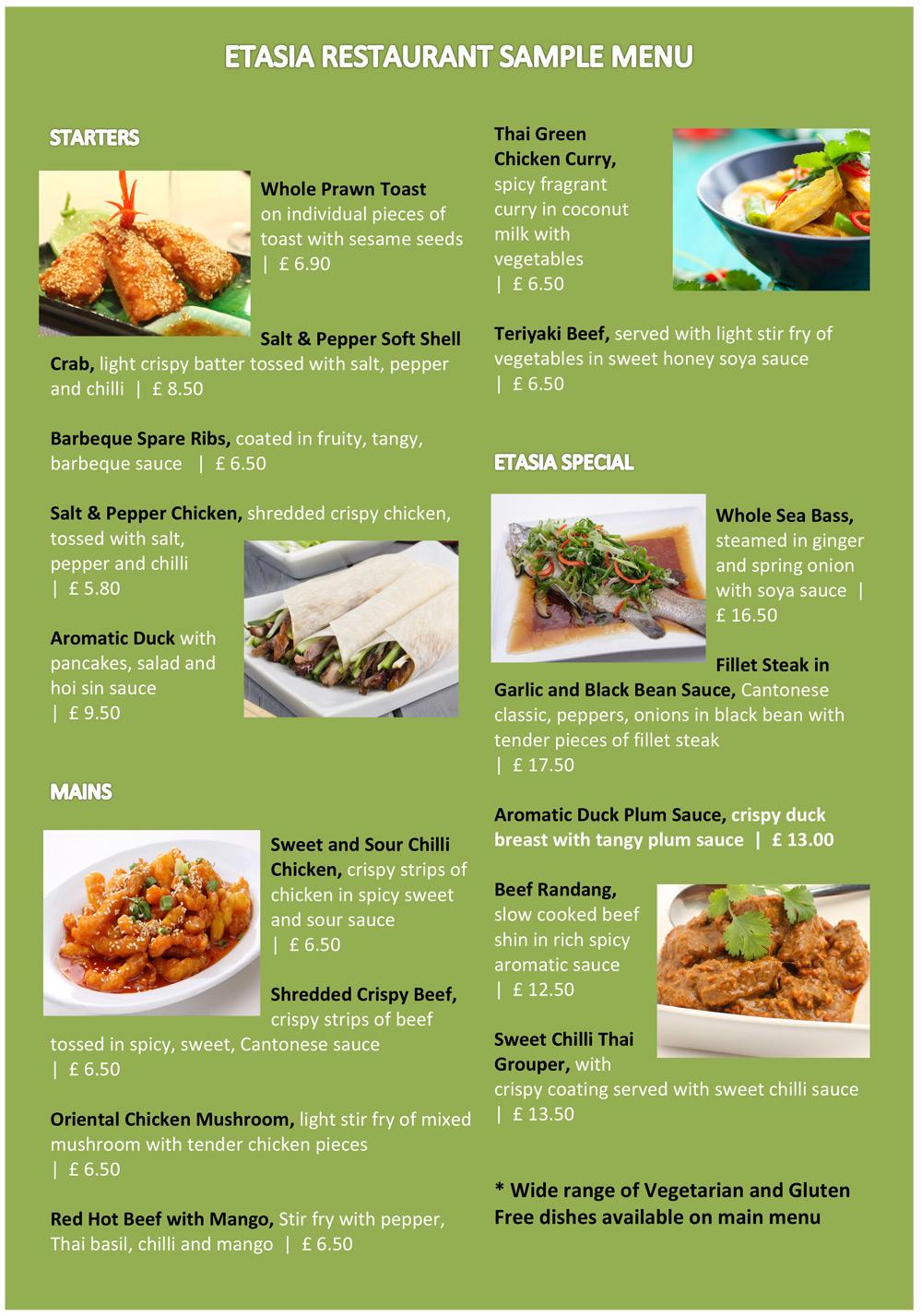 Restaurant for X cuisine miri menu