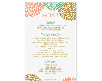 Menu Template Free Word